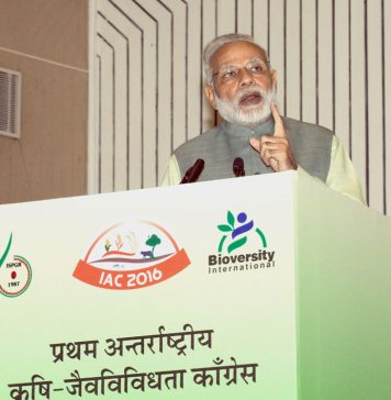 The Prime Minister, Shri Narendra Modi delivering his address at the inauguration of the 1st International Agrobiodiversity Congress 2016, at Vigyan Bhawan, in New Delhi on November 06, 2016