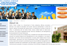 dCIL( India) Limited is a Government of India enterprise offering consultancy services in all areas of education and human resource development,